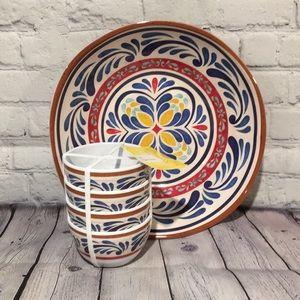Decorative Melamine Bowl Set 1 Large bowl 4 small